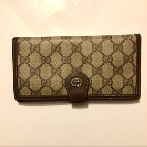 Vintage VTG Gucci Checkbook Wallet Coin Purse
